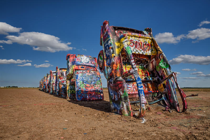 Cadillac Ranch On Route 66 In Texas Editorial Photo - Image of ...