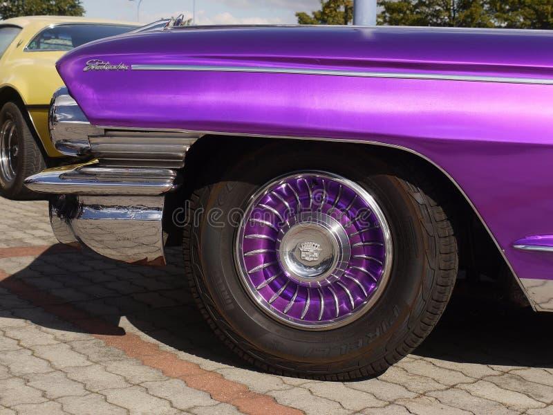 Cadillac, rocznika Amerykański Klasyczny samochód obrazy royalty free