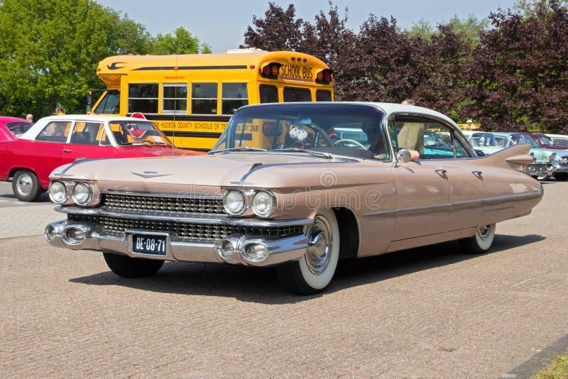 Cadillac 1959 Sedan De Ville stockbild