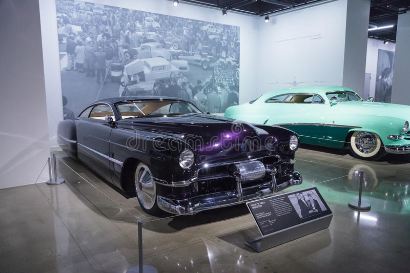 1948 Cadillac Sedanette. Los Angeles, CA, USA — April 16, 2016: Purple 1948 Cadillac Sedanette reproduction called CadZZilla by Hot Rods by Boyd from the stock photo