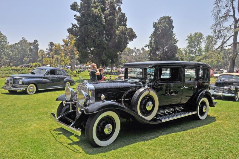 Cadillac V-16 miasteczka samochód zdjęcie royalty free