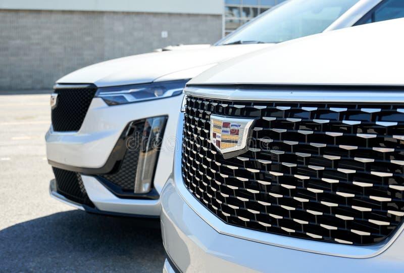 Cadillac XT4 2020 Black Car At Dealership Editorial Stock ...