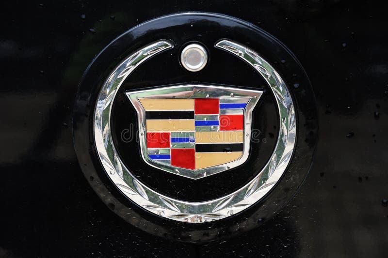 Cadillac-Zeichen stockfotografie