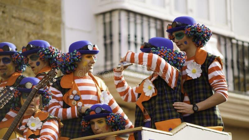 Cadiz, Andalusia, Hiszpania; Luty 12 2018: Cadiz karnawału świętowanie zdjęcia royalty free
