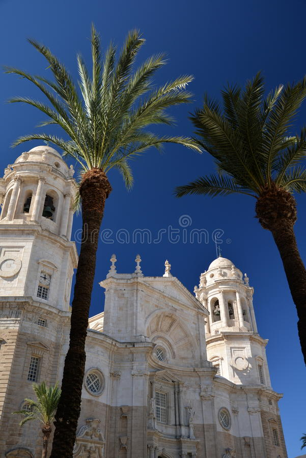 Cadiz, Andalusia, Spanje Stadskathedraal stock foto