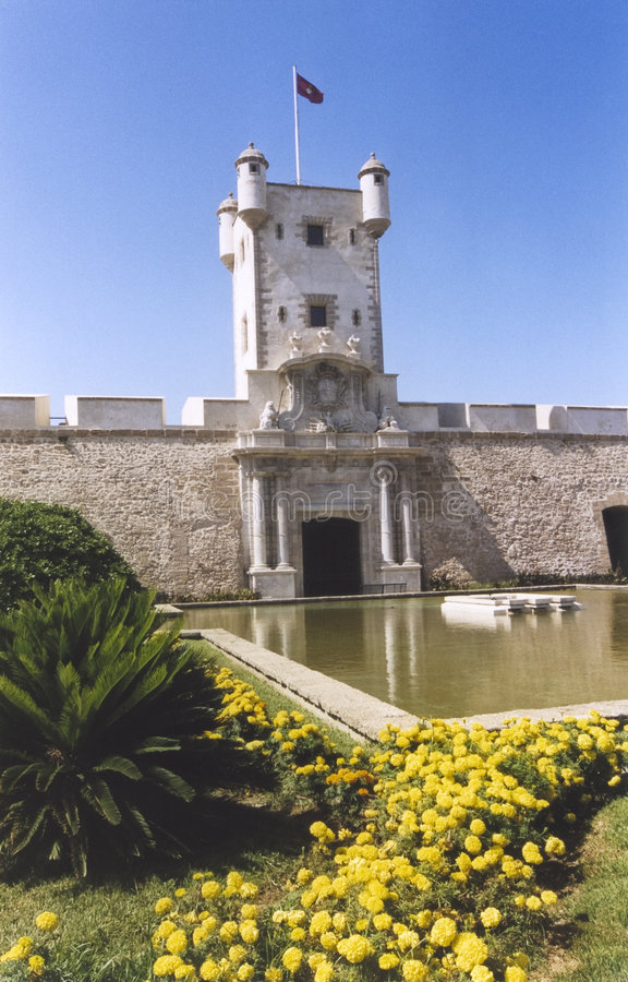 Cadiz Old City Gates & Walls Andalucia Spain Royalty Free Stock Photos