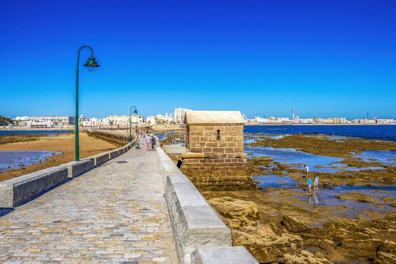 Cadiz-Küstenlinie in Andalusien, Spanien lizenzfreies stockfoto