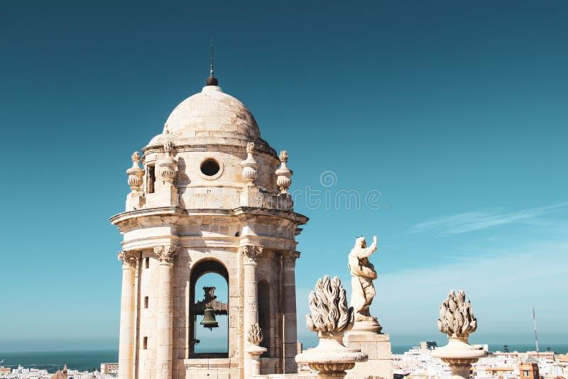 Cadiz Katedralny najwyższe piętro w Cadiz, Hiszpania fotografia stock