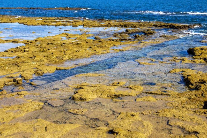 Cadiz linia brzegowa, prowincja Cadiz, Andalusia, Hiszpania zdjęcia stock
