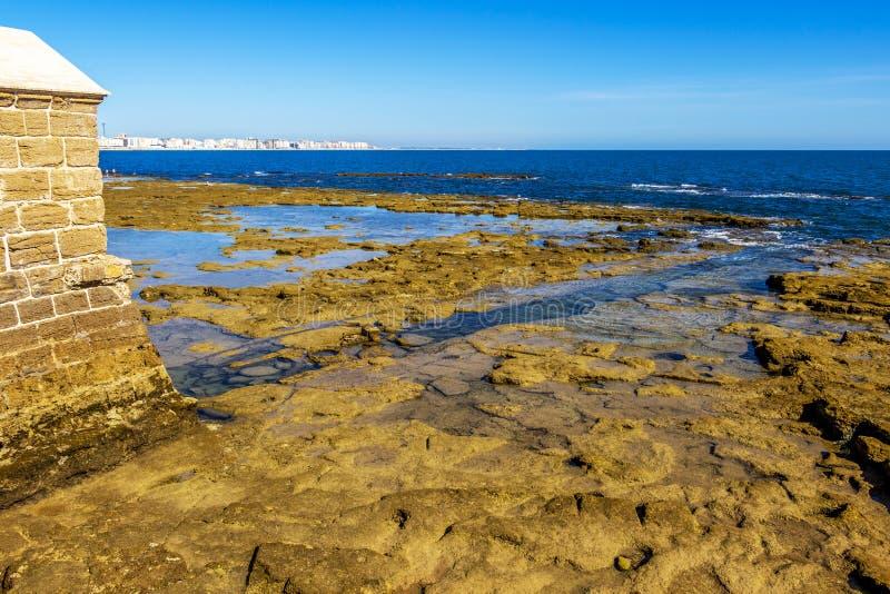 Cadiz linia brzegowa, prowincja Cadiz, Andalusia, Hiszpania fotografia stock