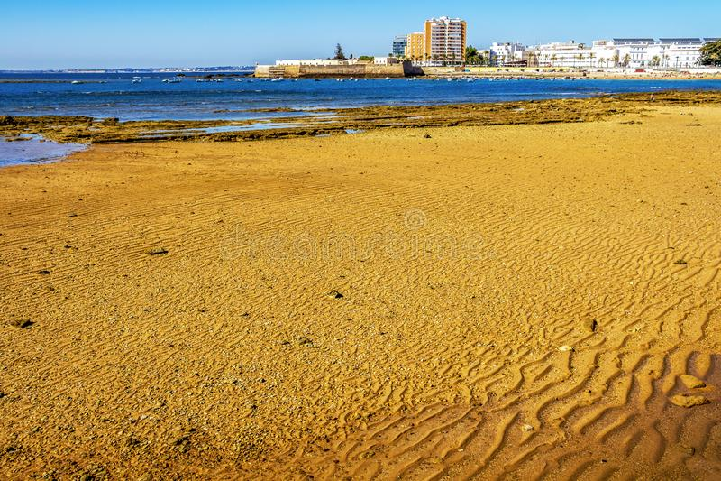 Cadiz linia brzegowa, prowincja Cadiz, Andalusia, Hiszpania zdjęcie royalty free