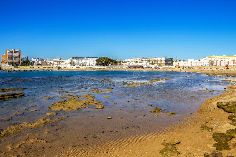 Cadiz linia brzegowa w Andalusia, Hiszpania obrazy stock