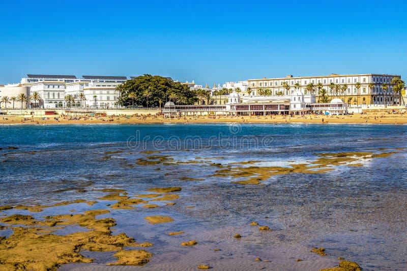 Cadiz linia brzegowa w Andalusia, Hiszpania obraz royalty free