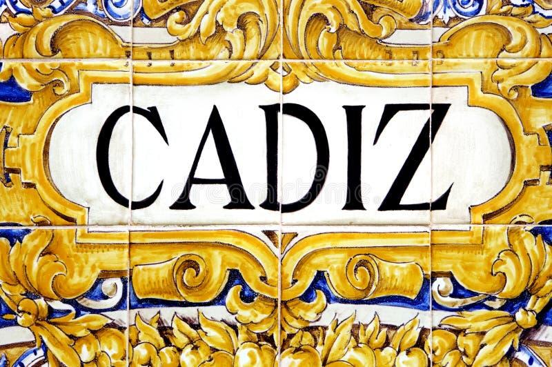 Cadiz sign royalty free stock photo