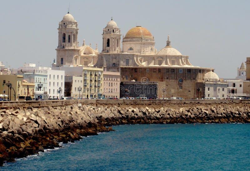 Cadiz, vista magnífica de Cadiz, Espanha imagens de stock