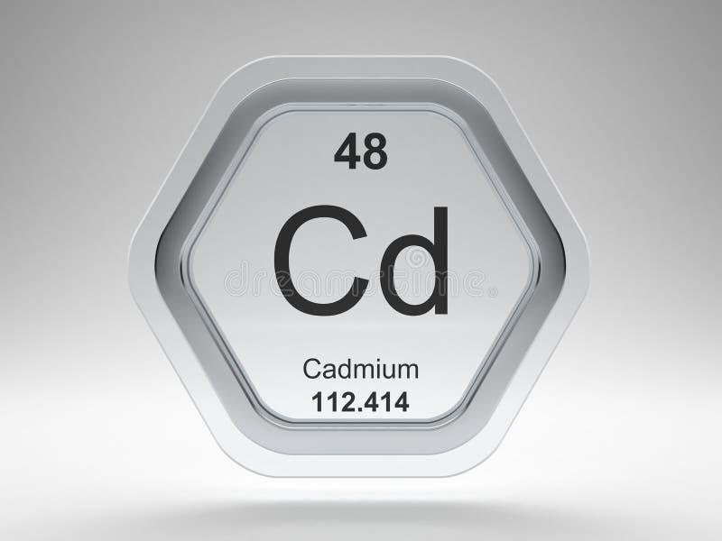 Cadmium symbol hexagon frame stock illustration