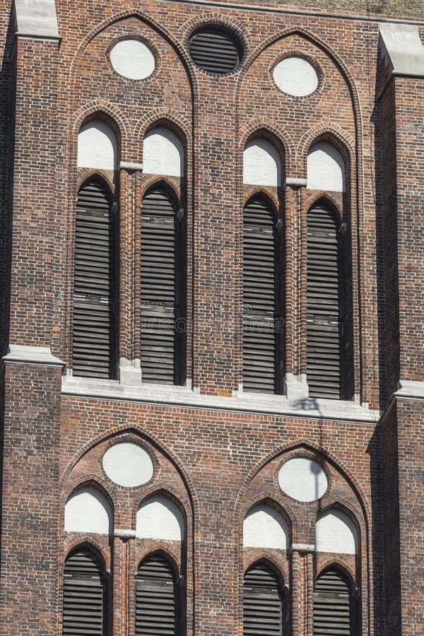 Cadran solaire à la ville de Danzig hôtel - Pologne image libre de droits