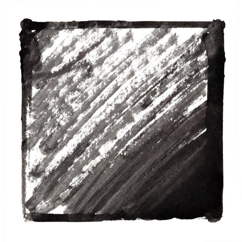 Cadre à l'encre noire avec des courses illustration stock