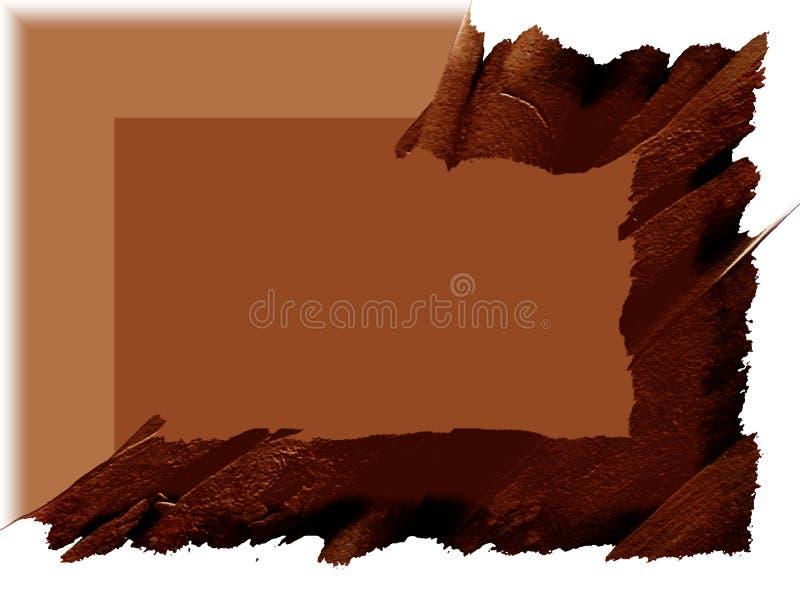 Cadre : Éclaboussure de cannelle illustration stock