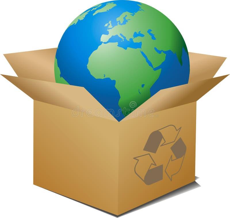 Boîte écologique photographie stock libre de droits