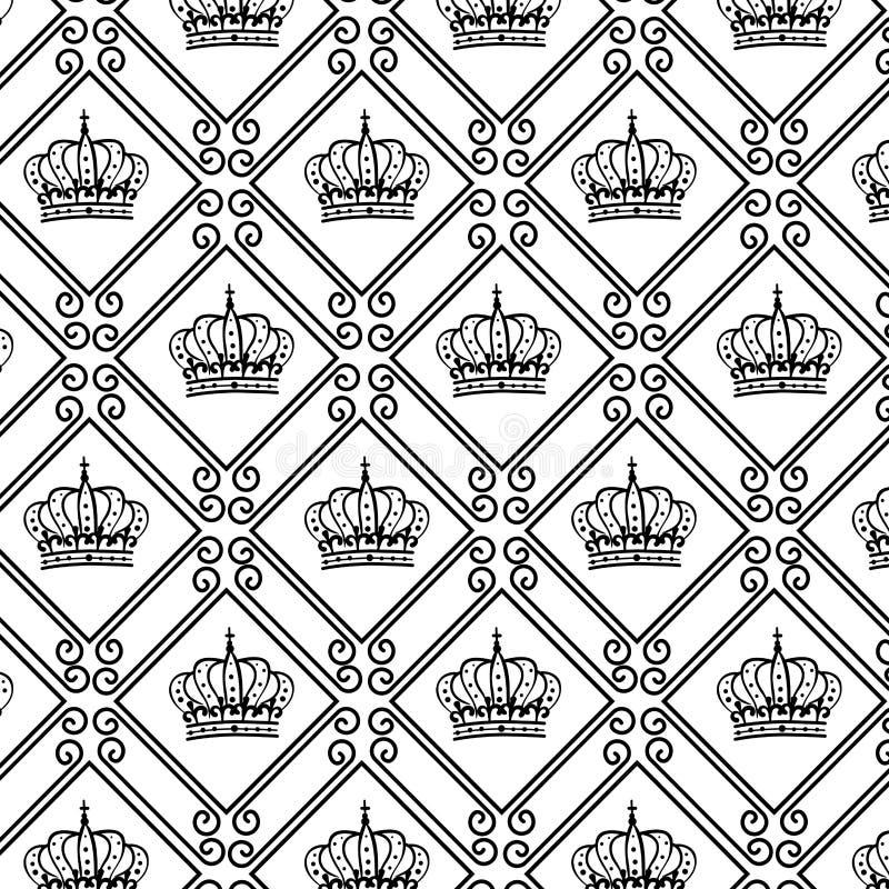 cadre élégant avec la couronne illustration libre de droits