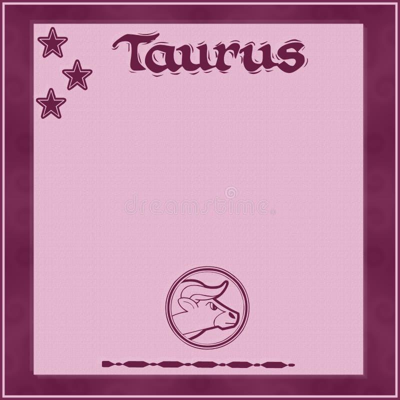 Cadre élégant avec le signe-Taureau de zodiaque illustration de vecteur