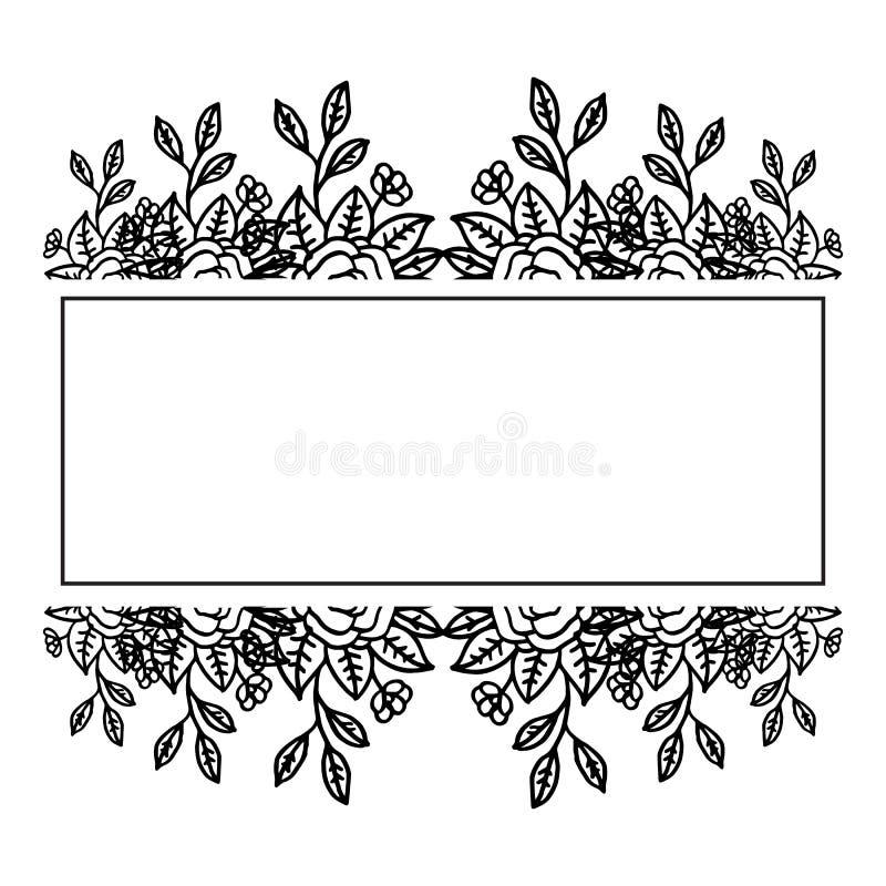 Cadre élégant de guirlande d'illustration de vecteur avec la décoration de la carte de voeux illustration stock