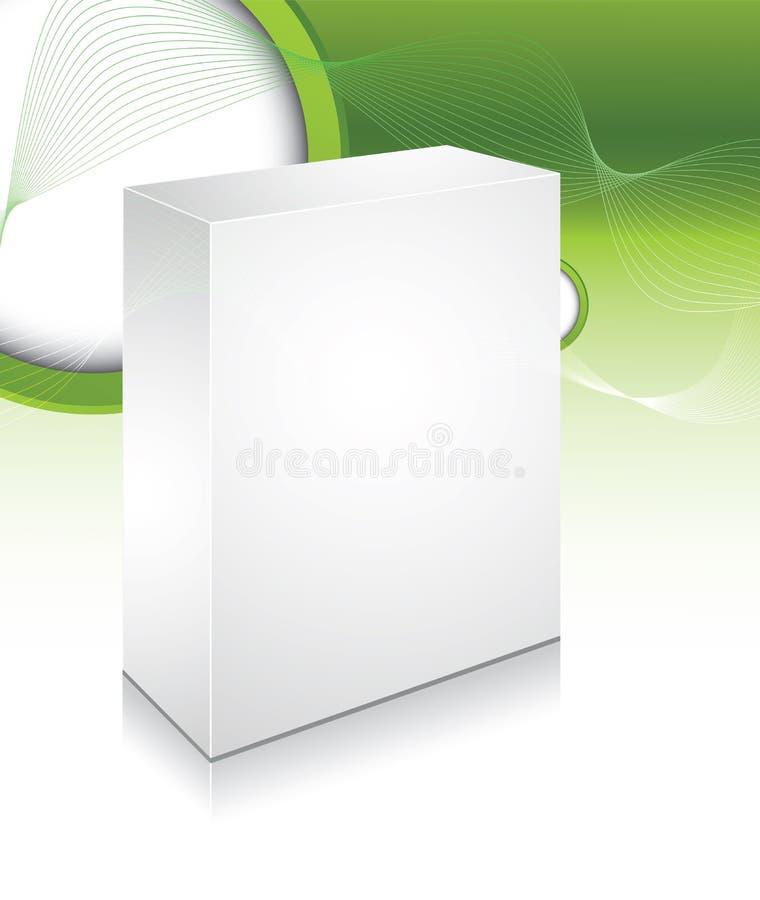 Cadre 3d blanc avec le fond abstrait illustration stock