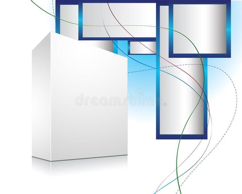 Cadre 3d blanc avec le fond abstrait illustration libre de droits