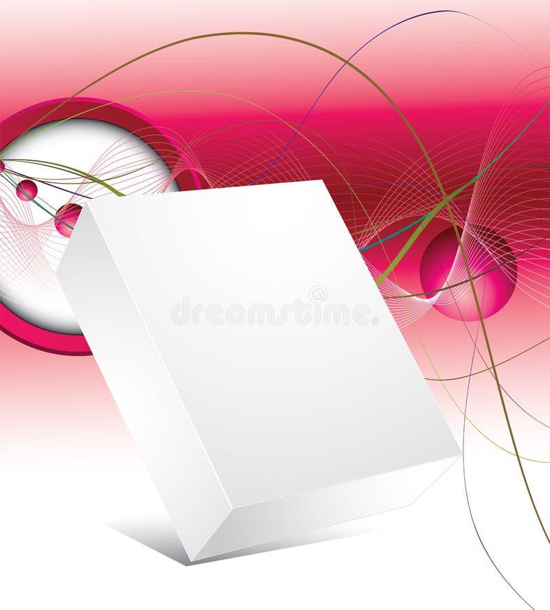 Cadre 3d blanc avec le fond abstrait illustration de vecteur