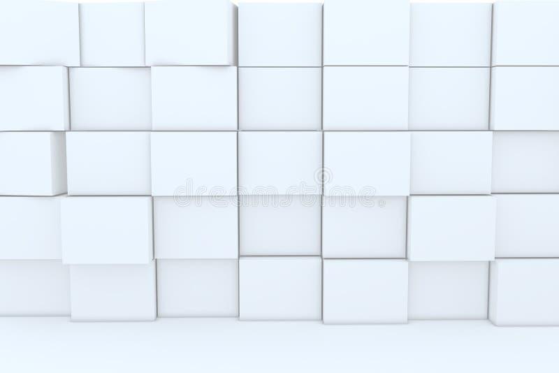 cadre 3D blanc pour des milieux illustration libre de droits