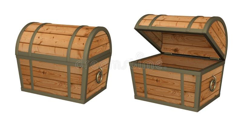cadre 3d en bois illustration de vecteur