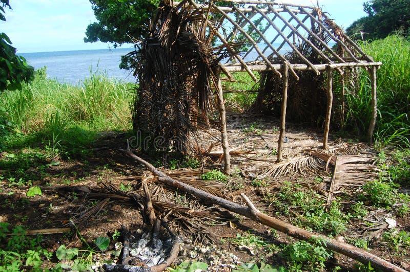 Cadre abandonné de maison de village de bois de construction photographie stock libre de droits