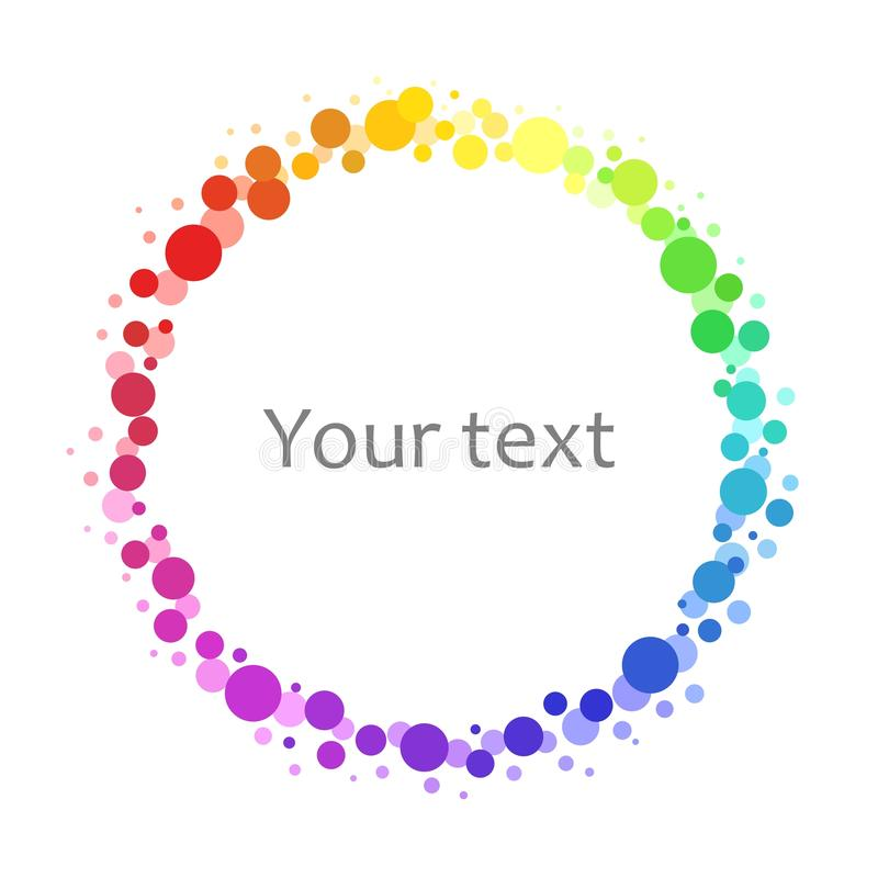 Cadre abstrait de fond - cercles iridescents illustration libre de droits