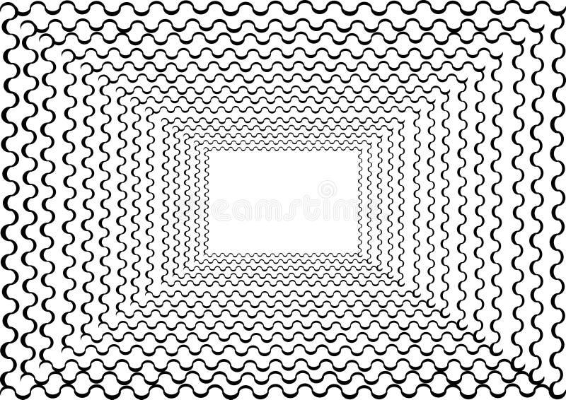 Cadre abstrait de tunnel avec la ligne bouclée autour images libres de droits