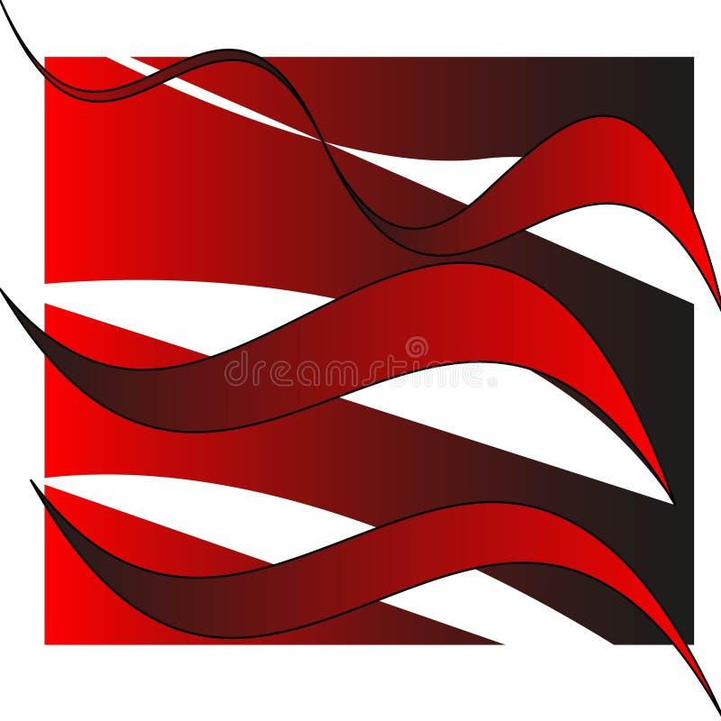 Cadre abstrait géométrique blanc rouge de conception de fond de vecteur illustration stock