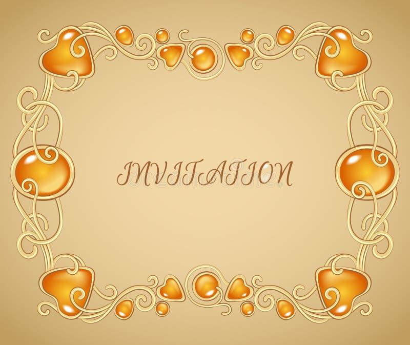 Cadre ambre illustration stock