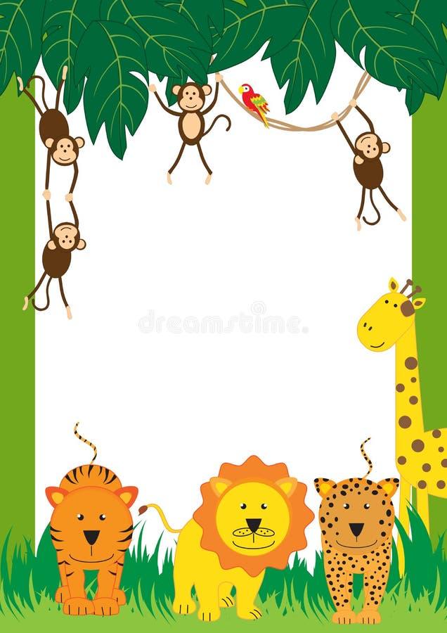 Cadre Animal Illustration Stock Illustration Du Perroquet