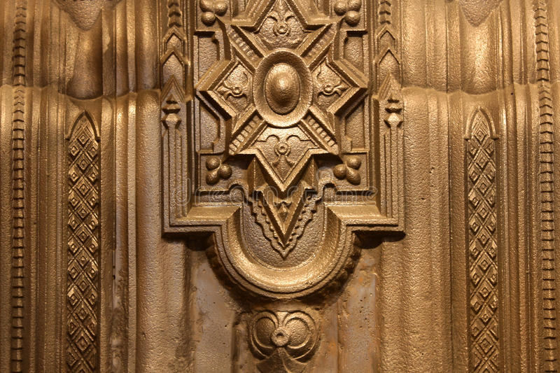Cadre antique en métal photo libre de droits