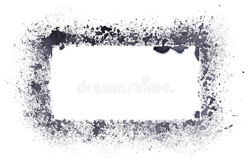 Cadre approximatif vide de pochoir illustration libre de droits