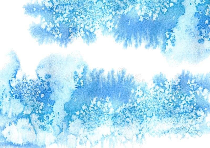 Cadre aqueux bleu illustration libre de droits