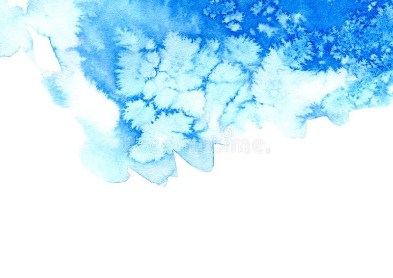 Cadre aqueux bleu illustration de vecteur