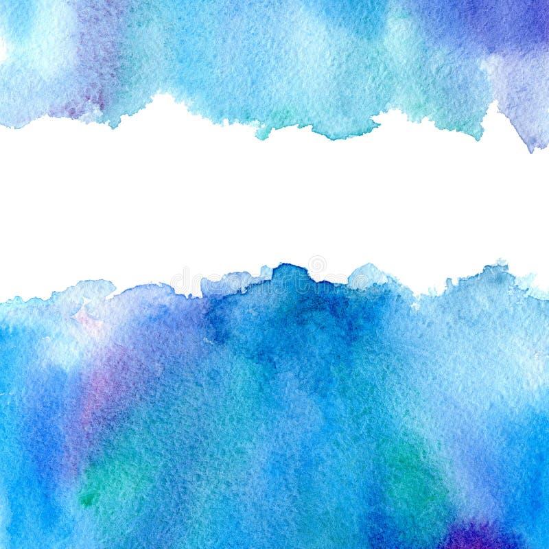 Cadre aqueux bleu illustration stock
