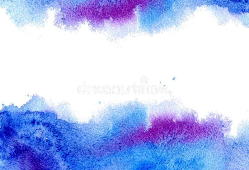 Cadre aqueux bleu et vert illustration de vecteur