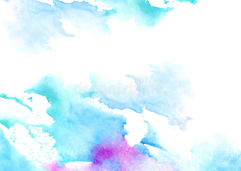 Cadre aqueux bleu et violet illustration de vecteur