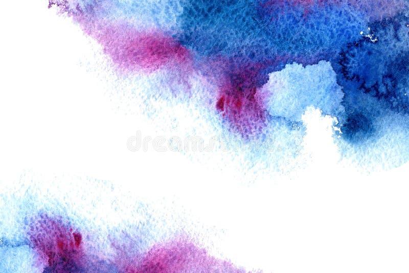 Cadre aqueux bleu et violet abstrait illustration stock