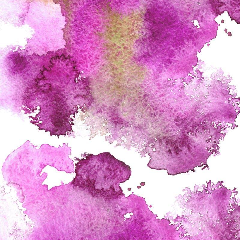 Cadre aqueux rose abstrait Contexte aquatique Dessin d'encre illustration libre de droits