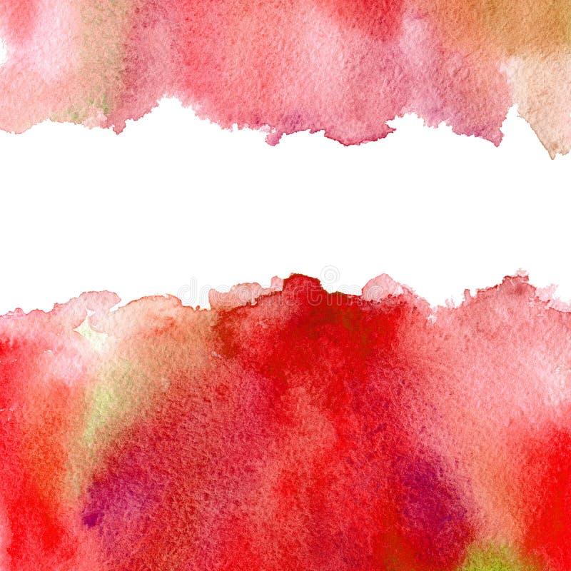 Cadre aqueux rouge illustration stock