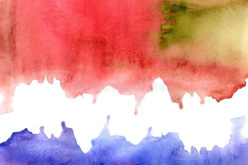 Cadre aqueux rouge et violet illustration libre de droits