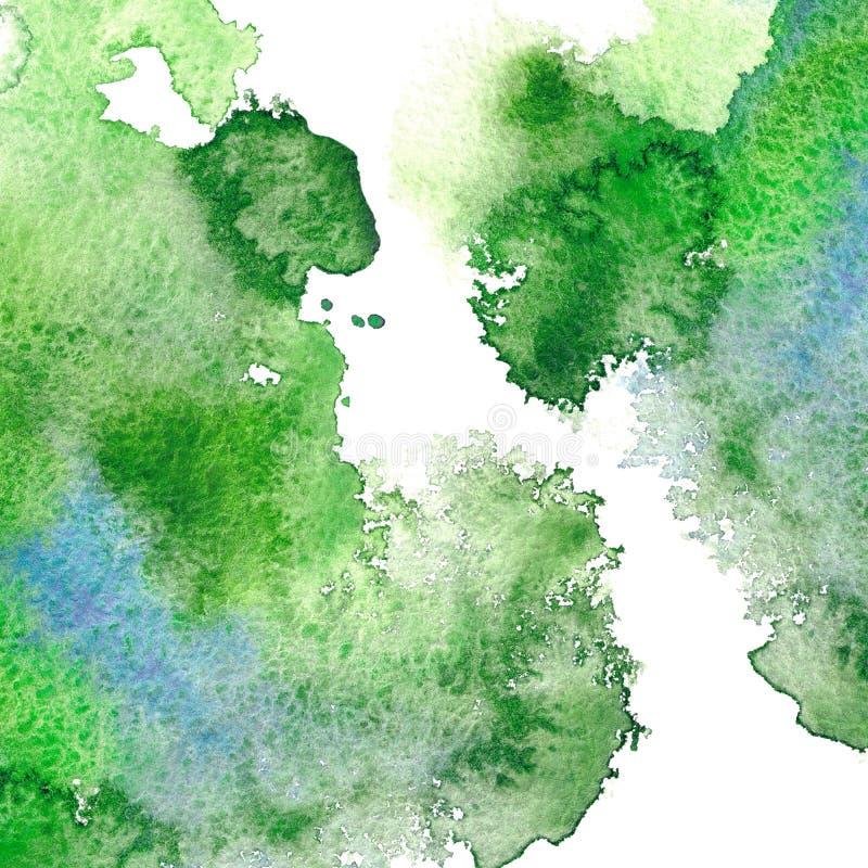 Cadre aqueux vert illustration stock